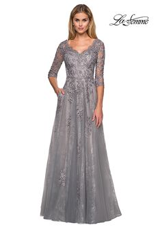 La Femme Evening 26959 Blue Mother Of The Bride Dress