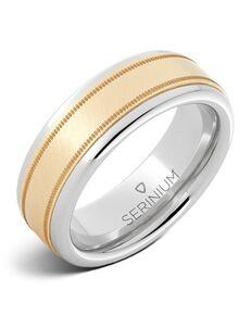 Serinium® Collection Medici — Serinium® and 14k Yellow Gold Ring-RMSA002580 Serinium® Wedding Ring