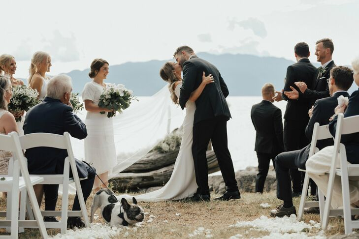 Waterfront Ceremony at Rockwater Secret Cove in British Columbia, Canada