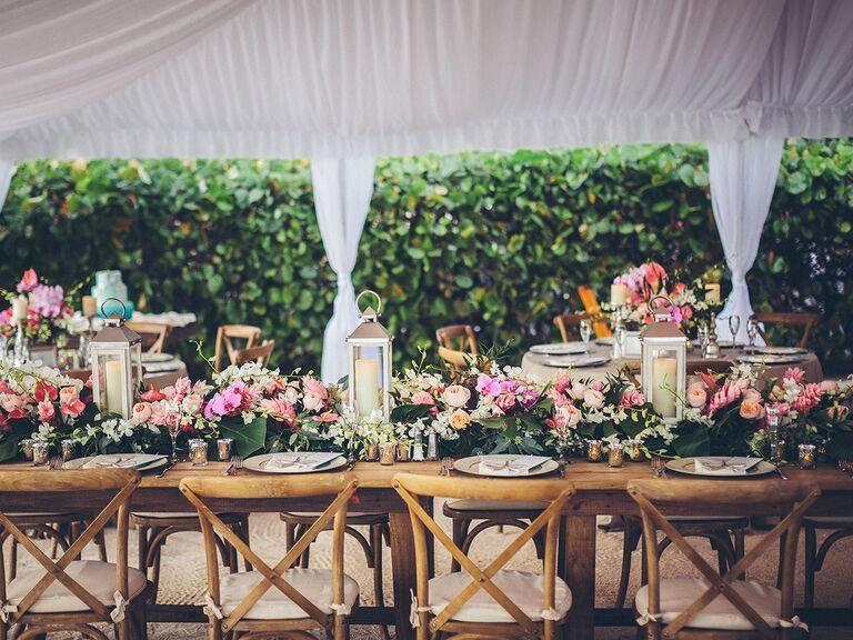 wedding reception set up at Cheeca Lodge and Spa in Islamorada Florida