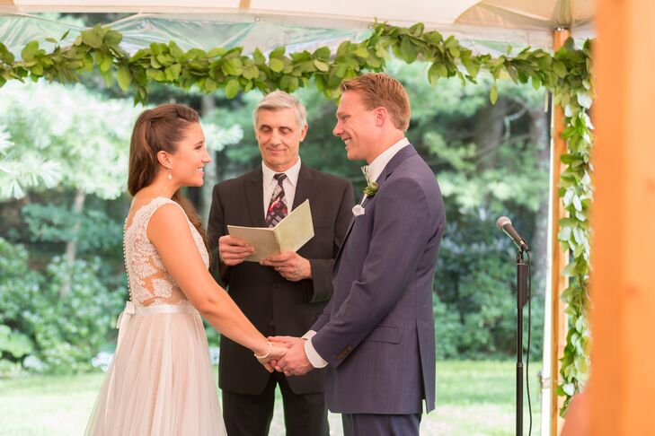 Outdoor Backyard Ceremony in Dover, Massachussetts