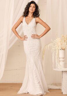 Lulus Make Them Marvel White Beaded Mermaid Maxi Dress Mermaid Wedding Dress
