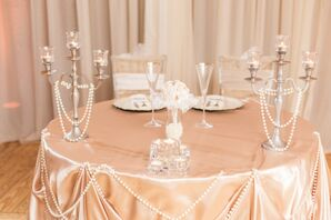 'Great Gatsby'-Inspired Sweetheart Table