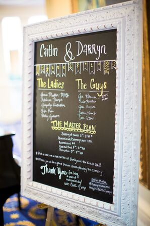 Framed Chalkboard Ceremony Program