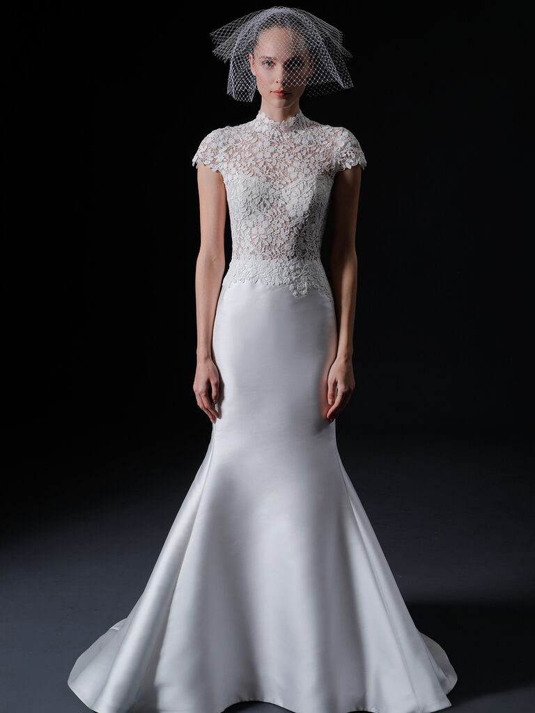 Isabelle Armstrong Spring 2020 Bridal Collection cap sleeve mermaid wedding dress
