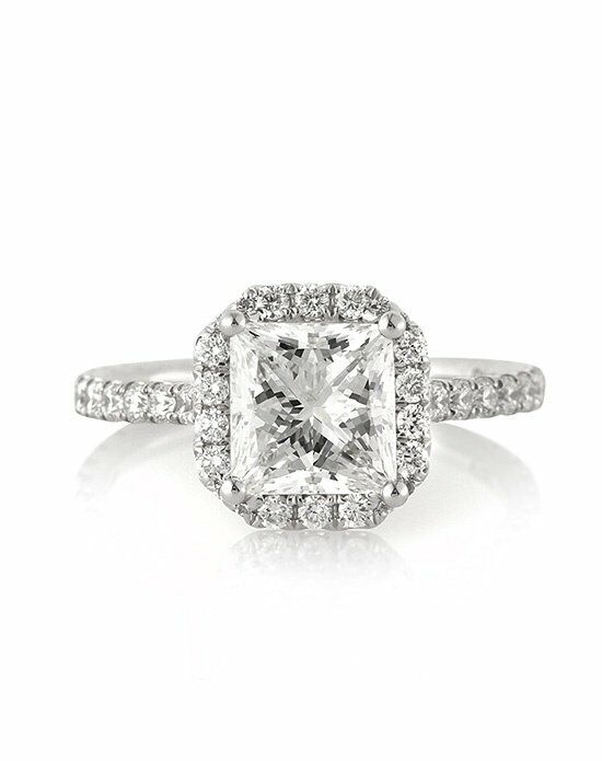 Mark Broumand 2.95ct Princess Cut Diamond Engagement ...