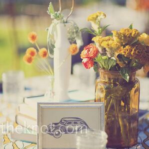 Orange and Yellow Centerpieces