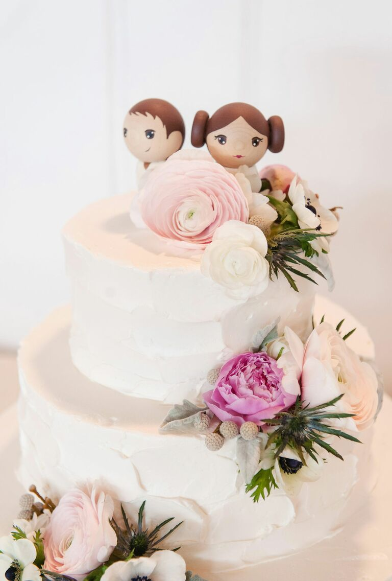 Han Solo and Leia wedding cake toppers
