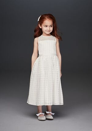David's Bridal Flower Girl David's Bridal Style OP261 White Flower Girl Dress