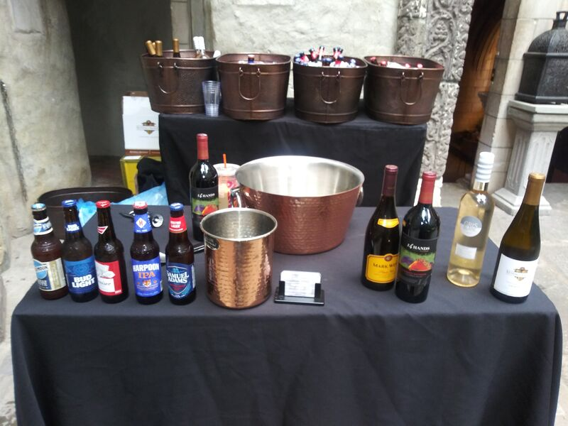 My bar with rental copper tubs