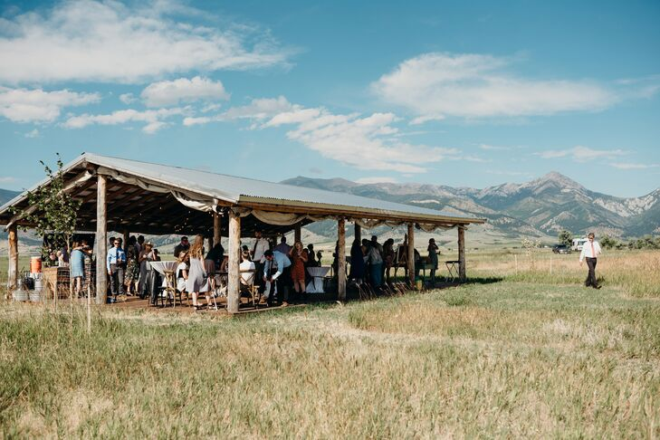 Casual Cocktail Hour at Rathvinden Farm in Belgrade, Montana