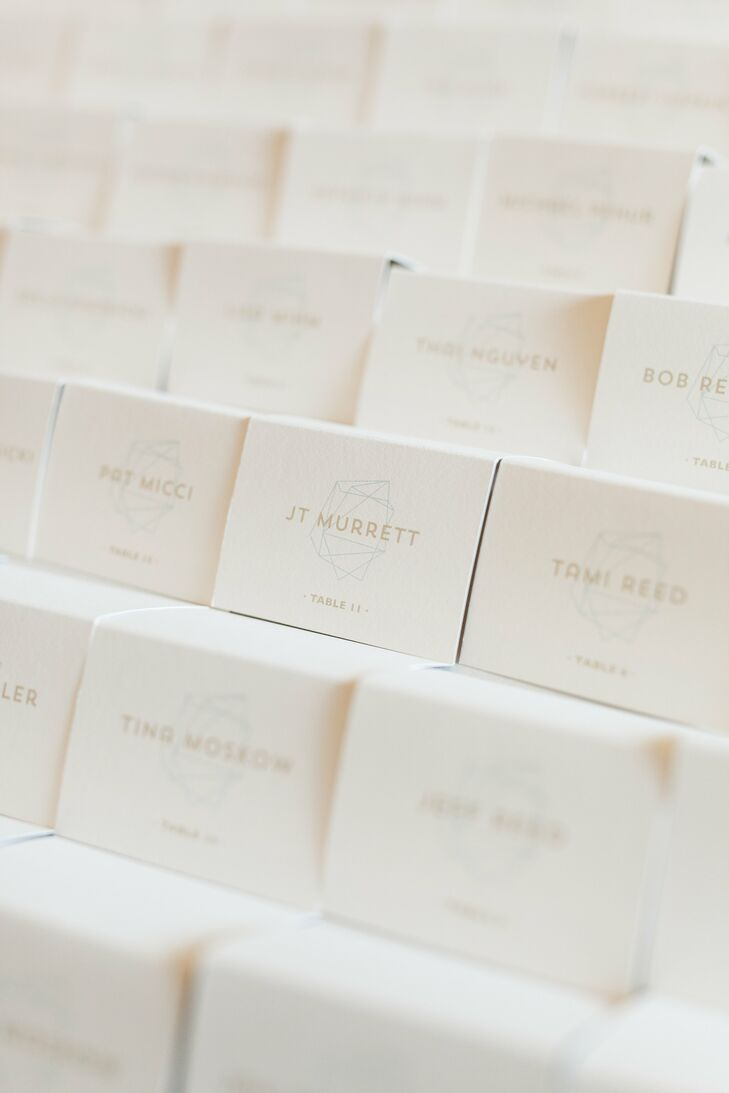 Escort Cards with Geometric Detailing