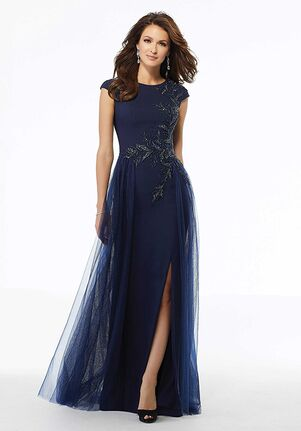 MGNY 72102 Blue,Silver Mother Of The Bride Dress
