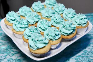 Turquoise Frosted Cupcakes