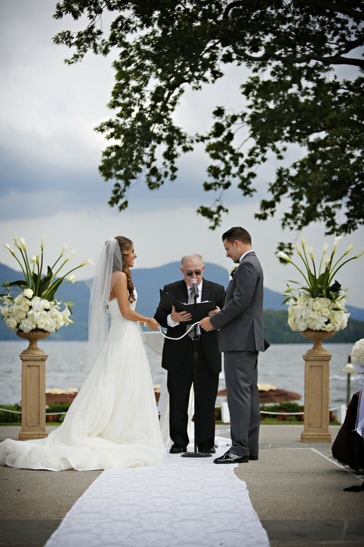 Stephanie and Joseph exchanged vows on the waterfront at The Sagamore Hotel in Lake George, NY.
