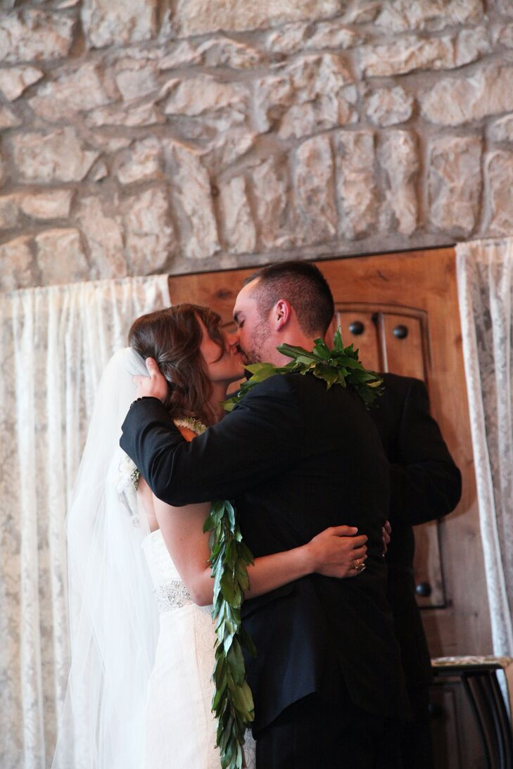 """After Brooke and Brad shared their first kiss, they took their first steps to """"I Believe in a Thing Called Love"""" by the Darkness. """"We wanted our ceremony to be something to be remember,"""" Brooke says. """"It absolutely will live forever in our hearts. It was perfect."""""""