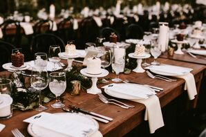 White Place Settings and Individual Cakes