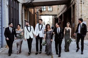 Modern Bridesmaids and Groomsmen in Elegant Neutral Colors