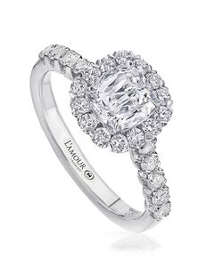 Christopher Designs Classic Cushion Cut Engagement Ring