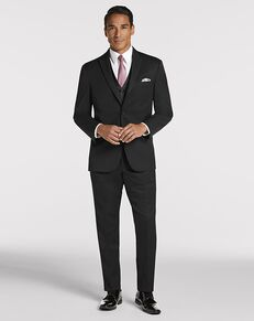 Men's Wearhouse Joseph Abboud® Black Peak Lapel Black Tuxedo
