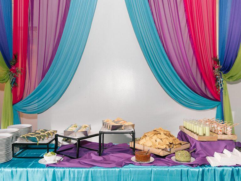 Wedding catering spread