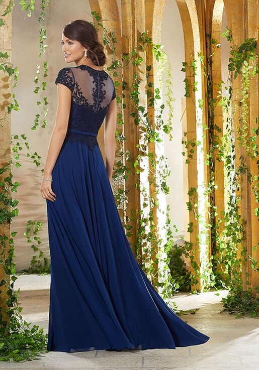 MGNY 71915 Blue,Pink Mother Of The Bride Dress