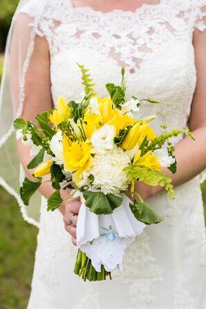 Yellow Tulip and White Chrysanthemum Bouquet