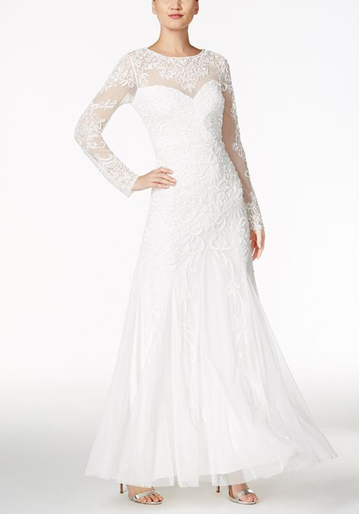 Adrianna Papell Wedding Dresses Adrianna Papell Beaded Illusion