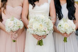 Classic Hydrangea and Baby's Breath Bouquet