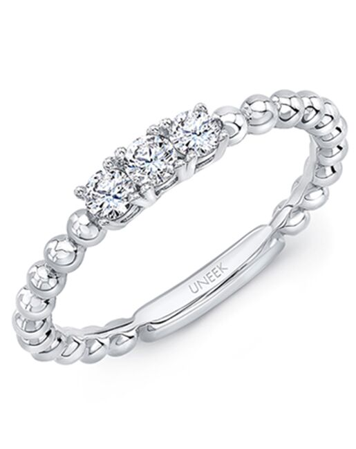 "Uneek Fine Jewelry Uneek ""Harper"" Stackable Wedding Band, 14K Yellow Gold - LVBNA212Y Gold Wedding Ring"