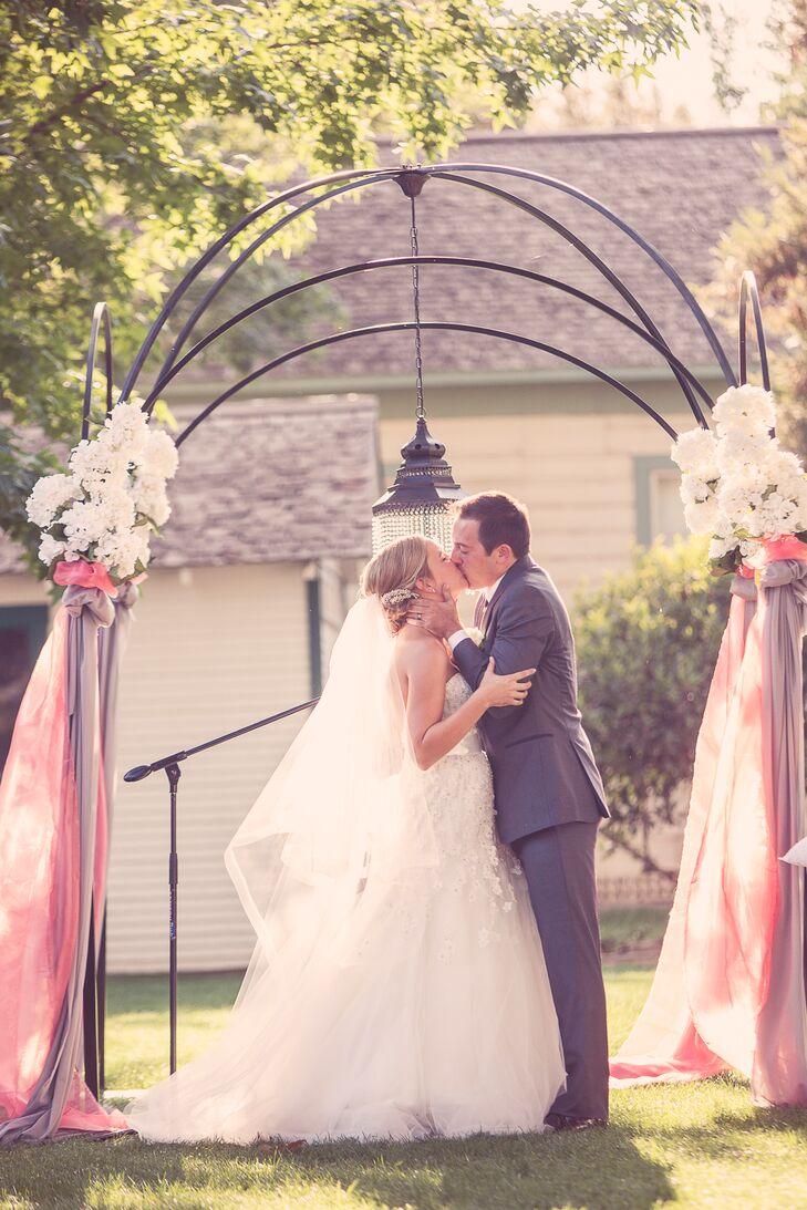 Bride and Groom Garden Ceremony