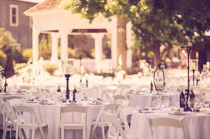 Rustic Outdoor Garden Reception Tables