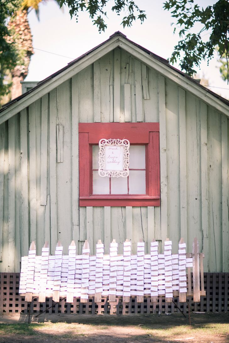 The bride and groom had their wedding at the Kern County Museum because it was one of the only venues that could fit their large guest list and the bride wanted a rustic-themed wedding.