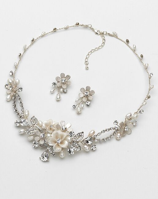 USABride Eve Floral & Ivory Jewelry Set (JS-1661) Wedding Necklaces photo