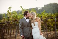 Brianna Maxson (26 and a meeting planner) and Kyle Spraker (28 and an account executive) wanted their vineyard wedding to have an elegant, rustic feel