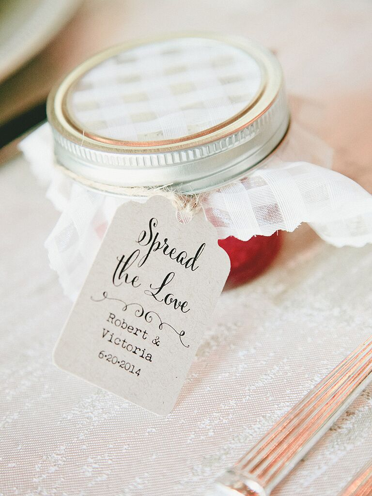 punny jam wedding favor label