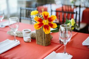 Bright Yellow and Orange Centerpieces