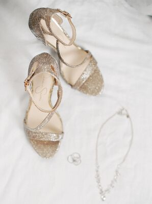 Simple, Nude Wedding Shoes