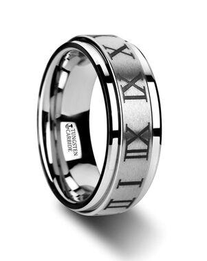 Mens Tungsten Wedding Bands W3072-TCRN Tungsten Wedding Ring