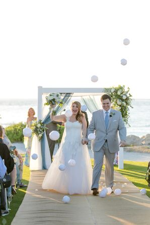 Small Tossed Beach Balls During Recessional