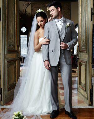 BLACKTIE MADISON Heather Grey Wedding Suit Gray Tuxedo
