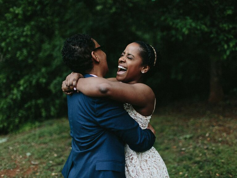 leave no trace elopement couple hugging