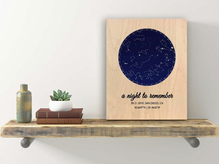 star map for newlyweds
