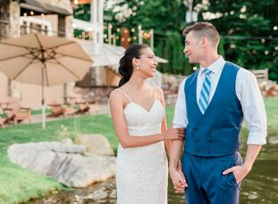 "Pamela (Pam) Pichardo (30 and a nurse) wanted her wedding to Michael Teehan (31 and a science teacher) ""to feel like a big family gathering,"" she says"