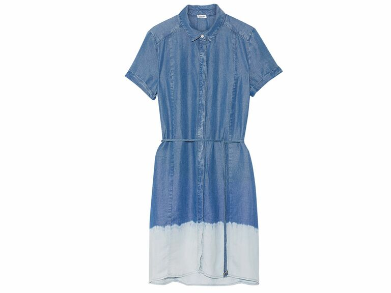 Splendid Sandollar ombré Tencel shirt dress