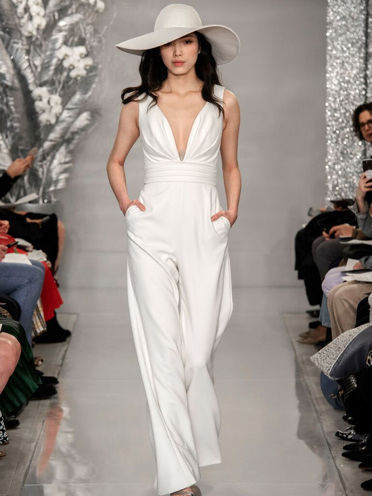 Theia Spring 2020 Bridal Collection bridal jumpsuit
