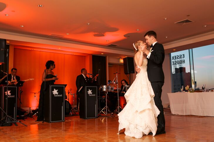 Katie and Ben shared their first dance at Le Parker Meridien as the sun set over the New York City skyscrapers in the backdrop. Star Talent kicked up the party with live music and theatrical lighting, the couple's favorite way to party.