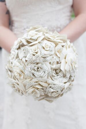 Paper and Book Page Bridal Bouquet