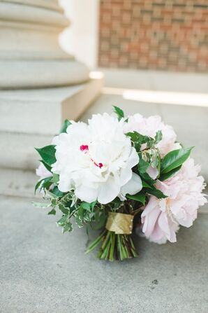 White and Pink Peony Textured Bouquet