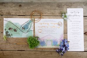 Pastel Watercolor Wedding Invitations